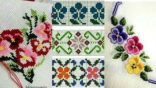 Vintage Border line Cross Stitches Pattern Beautiful Collection