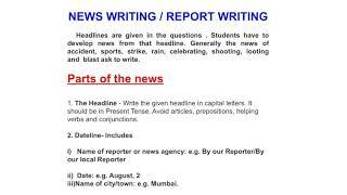 News / Report Writing Important for Board Exam 2019.