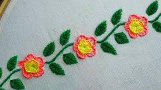 easy border design hand embroidery,border line embroidery for dress