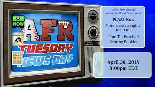 AFR Tuesday News Day for April 30, 2019: Sports Board Game News