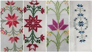 Vintage Cross stitches Borderline Pettern