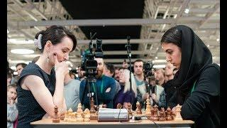 29 year old Beautiful Russian VS 21 year old Iranian!! Blitz Chess