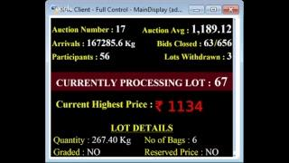 SPICES BOARD E-AUCTION PUTTADY 08/10/2018 LIVE HEADER