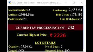 SPICES BOARD E-AUCTION PUTTADY - 07.05.2019 SSP LIVE