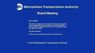 MTA Board - 11/12/2019 Live Webcast