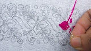 Hand embroidery, Border Line Embroidery Design, Simple Border Design