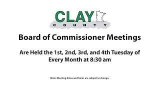MN Clay County Board of Commissioners Live Stream