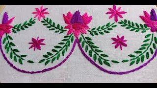 Hand Embroidery Border line design by Rup Handicraft, Beautiful border line design for kameez
