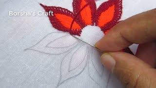 Hand Embroidery, Easy Flower Embroidery Tutorial, Flower Embroidery Design