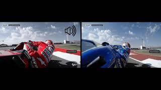 Moto GP Austin 2019 On board Suzuki vs Ducati
