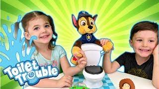 Bro vs Sis vs Toys | Family Board Games (Toilet Trouble Challenge)