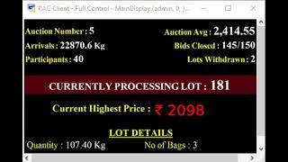 SPICES BOARD PUTTADY E-AUCTION - 18.05.2019 KCPMC LIVE