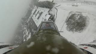 Eflite P-51 Snow Flight, on board video