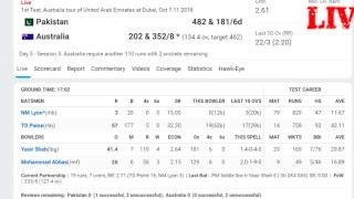 Live Cricket Match , Pakistan Vs Australia Live Cricket Score Board..