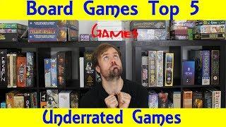 Top 5 Underrated Hobby Board Games