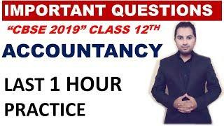 Accountancy important questions class 12th board exam 2019 | commerce