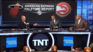 Inside The NBA - Charles & Kenny live on: Heat leads Hawks 52-46; Adebayo: 11-pt Halftime Report