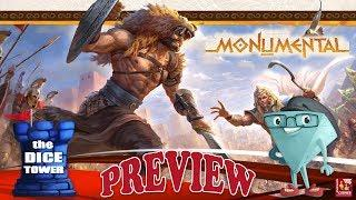 """MONUMENTAL"" a Dice Tower Preview - with Boardgame Corner"