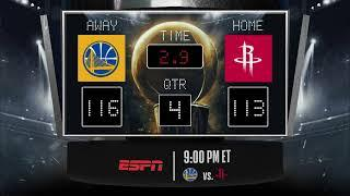 Warriors @ Rockets LIVE Scoreboard - Join the conversation & catch all the action on ESPN!
