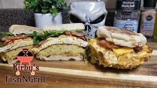 Ultimate Egg Muffin Sandwich - Breakfast with Kirby Live - Get Your Fat Pants Ready!!