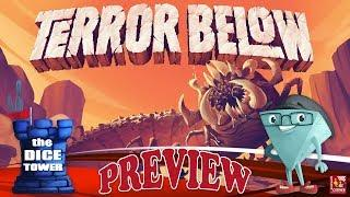 """TERROR BELOW"" a Dice Tower Preview - with Boardgame Corner"