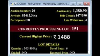 SPICES BOARD E-AUCTION PUTTADY 28/11/2018 IDTCPC LIVE