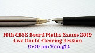 10th CBSE Board Maths Live Question & Answers