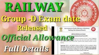 Railway Group D exam date released - Railway board official allowance - Adh News