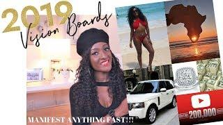 Vision board 2019 | How to manifest your dreams ???? | Chanelle Novosey