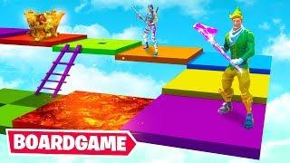 Reach the TOP to WIN! - Fortnite BOARD GAME