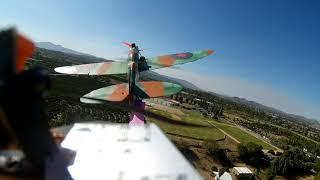 FPV Ribbon cutting: FT Spitfire 3 ship on board flight video Runcam 2 1080P