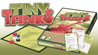 TINY TANKS board game and card game 4/4 - GAME 3