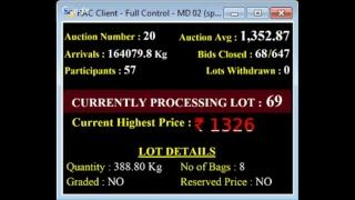 SPICES BOARD BODI - E AUCTION LIVE KCPMC 27/11/2018