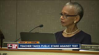 Polk County teacher asks school board to join the fight against state teacher test