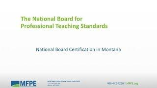 National Board Certification Informational Video