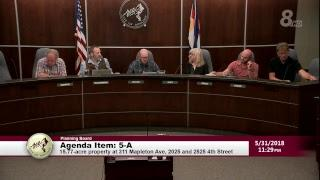 Boulder Planning Board Meeting 5-31-18