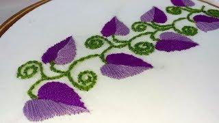 Hand Embroidery amazing borderline design.