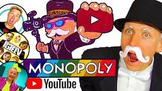 DIY ???? YouTuber MONOPOLY CHALLENGE!!! Create YouTube Monopoly Board Game - Draw & Color for Kids