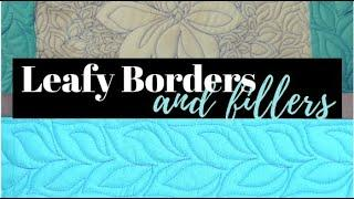 Quilting Leafy Border Design & Filler: Free-motion Challenge Quilting Along with Angela Walters