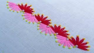 Hand Embroidery, New Nakshi Kantha Border Line Design 6