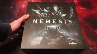 Nemesis Board Game Unboxing - Awaken Realms Kickstarter