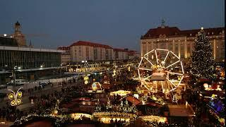 Striezelmarket in the evening Christmas - Free Stock Footage Video || Video Board