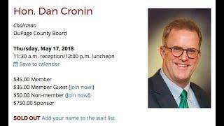 Hon. Dan Cronin, Chairman, DuPage County Board LIVE