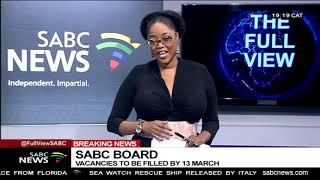 SABC board vacancies to be filled by 13 March