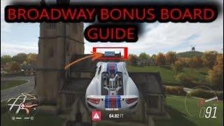 Forza Horizon 4 - BROADWAY Bonus Board (Church Roof) Guide