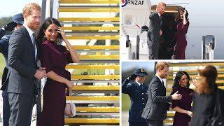 Meghan & Harry Say Goodbye To Australia As They Board Flight To New Zealand / Latest Royal News