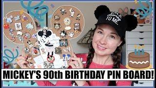 Happy Birthday Mickey Mouse! 90th Birthday Disney Pin Board!