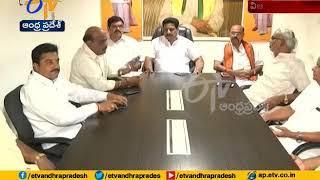 MLC Buddha Venkanna Meets Durga Temple Board Members at Vijayawada