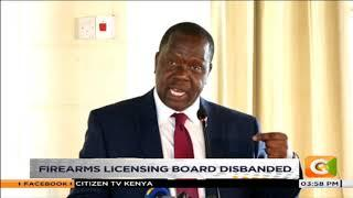Firearms licensing board disbanded