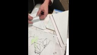 Drawing board live patterns and Roofing math solved by wonk head captain Kurtis @tradro